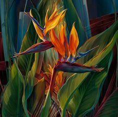 Paintings by Vie Dunn-Harr | CUADROS MODERNOS CON FLORES PINTADOS EN OLEO