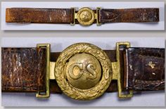 A Confederate 'CS' Two-Piece Buckle and Belt Set – Richmond Depot Issue