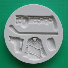 Hockey mold for candy or cake decorating