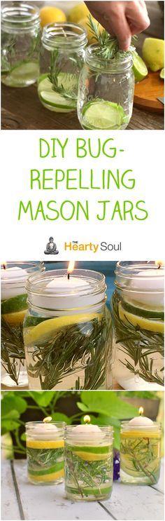 DIY Bug-Repelling Mason Jars