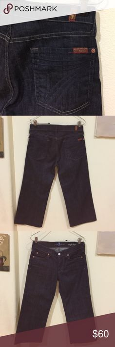 Dojo 7 for All Mankind cropped jeans Gently worn , like new , size 27 inseam is 21 inches 7 For All Mankind Jeans Ankle & Cropped