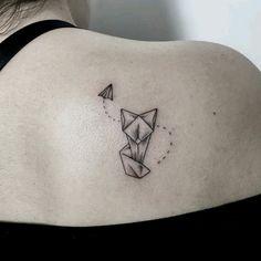 By - coole Tattoos/Tattoo Ideen - Origami Origami Tattoo, Origami Owl, Mini Tattoos, Body Art Tattoos, Paris Tattoo, Delicate Tattoo, Subtle Tattoos, Simple Tatto, Minimalist Tattoo Meaning