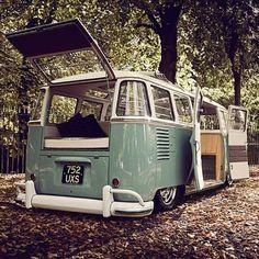 Slammed VW splitty Camper Van