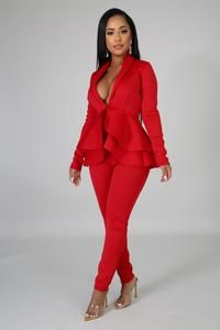 Suit Fashion, Red Fashion, Fashion Outfits, Fashion Clothes, Fall Fashion, Classy Outfits, Sexy Outfits, Work Outfits, Vestidos