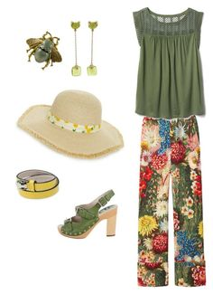 """""""Casual spring"""" by celine-pallancher on Polyvore featuring Pomellato, BP., Gucci, Gap, D&G and Bulgari"""