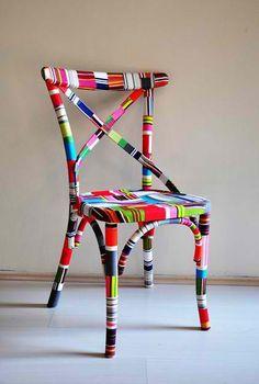 diy chair decor #HomeandGarden