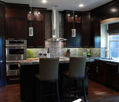 Luxury Modern Espresso Kitchen Cabinets
