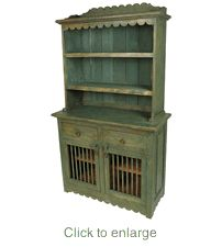 Why would anyone want stock kitchen cabinets when you can have this beautiful kitchen hutch?