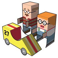 «Soap Box» se traduit par «caisse à savon» en français. Vous savez, ces véhicules assemblés de bric et de broc et pilotés par des gamins en mal de sensations. Ce papertoy qui réunit le père, le fils et la caisseLire la suiteSoap Box Papertoy de Bryan