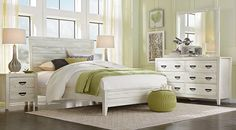 picture of sandy lane driftwood 5 pc queen panel bedroom from