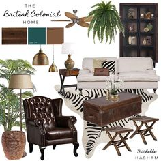 The British Colonial Style Home mood board by Michelle Hasham