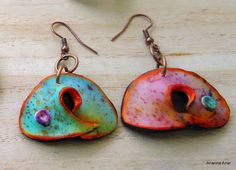 Polymer clay earrings by AnarinaAnar on Etsy, €22.00