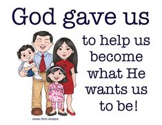 SINGING TIME IDEA: The Family is of God Flip Chart for LDS Primary #lds #ldsprimarry