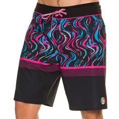 """O'Neill Hyperfreak Madness Boardshort. Men's Boardshorts. Fitted waist band with draw cord. O'Neill detailing. Back pocket. 89% Polyester, 11% Elastane. Imported. Vendor Style #: SP7106004. Size + Fit Guide: Model is wearing a Size: 32 Model's height: 6'1"""" Shirt: 15 inches Waist: 31 inches Inseam: 26 inches"""