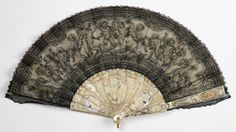 Folding Fan Of Mother-Of-Pearl And Lace - France   c.1880-1890  -  The Smithsonian Cooper-Hewitt, National Design Museum in New York