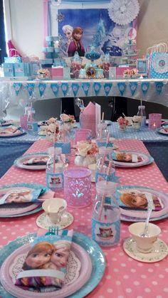 Elsa Birthday Party, Frozen Themed Birthday Party, Disney Frozen Birthday, 3rd Birthday Parties, 2nd Birthday, Friend Birthday, Birthday Ideas, Frozen Tea Party, Princess Tea Party