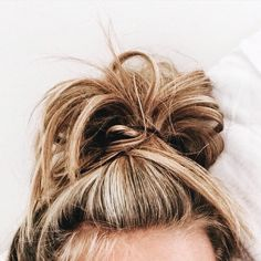Top Knots save any bad hair day Bad Hair, Hair Day, Weekend Hair, Girl Hair, Messy Hairstyles, Pretty Hairstyles, Hairstyle Ideas, Daily Hairstyles, Fashion Hairstyles