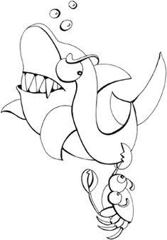 malvorlage haifisch kostenlos 1   haifische   pinterest