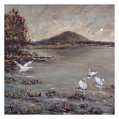 Fine Art Print  Mounted & Signed  Giclee Print  Textured Irish Landscape, Fine Art Paper, Giclee Print, I Shop, Fine Art Prints, Original Paintings, Texture, Illustration, Artist