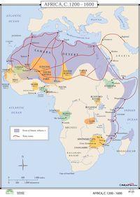 Universal Map World History Wall Maps - Africa 1200-1600