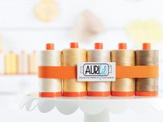 Aurifil 50wt Cotton Thread Walking On Sunshine Collection - https://diygods.com/products/aurifil-50wt-cotton-thread-walking-on-sunshine-collection/
