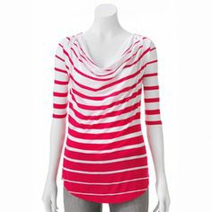 Apt. 9 Striped Slubbed Drapeneck Top $22