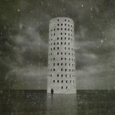 Babel  Fotoklimat . Konceptualna  Fotomontaż surrealistyczny