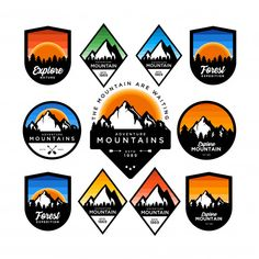 Find Mountain Adventure Badges stock images in HD and millions of other royalty-free stock photos, illustrations and vectors in the Shutterstock collection. Badge Design, Logo Design Template, Modern Business Cards, Business Card Design, Banners, Community Logo, Badge Logo, Modern Logo Design, Banner Vector