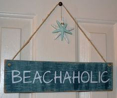 Perfect Beach Decor for the Beach Lover by CarovaBeachCrafts, $26.00 #beachsignswooden