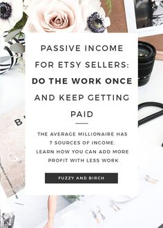 The average millionaire has 7 sources of income. Learn how you can add MORE income with less work by adding passive income to your Etsy strategy. This step-by-step video article will show you exactly what types of passive income you can try, and how to get started expanding your biz. Click to watch now!