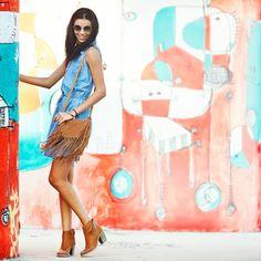 Definitely in a denim mood  #AmericanRag Sleeveless Denim Shirt Dress: http://amrag.co/ou