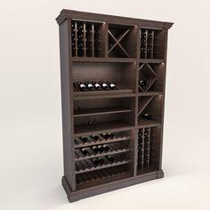 Шкаф для хранения вина 2495 производитель мебели на заказ Деметра Вудмарк. В кабинет, на кухню, в кладовку, в погреб.