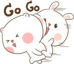 TuaGom : Puffy Bear & Rabbit by Tora Jung Cute Cartoon Images, Cute Cartoon Wallpapers, Emoji Wallpaper, Cute Wallpaper Backgrounds, Cute Chibi Couple, Cat Love Quotes, Cute Bear Drawings, Chibi Cat, Cute Kawaii Animals