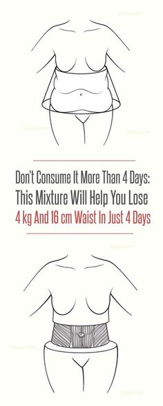This Recipe Will Help You Lose Weight 4kg and 16cm Waist in Just 4 Days.