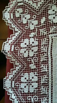 Drawn Thread, Thread Work, Needle Lace, Bobbin Lace, Filet Crochet, Crochet Lace, Tenerife, Lace Weave, Hairpin Lace