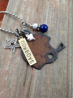 I Love Football Necklace for Dallas Cowboy