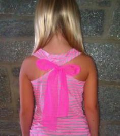 tank tops are more fancy with a bow!