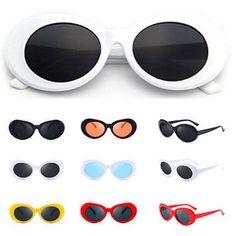 4a9c7006cb8 Kurt Cobain White Clout Goggles Sunglasses Rapper Oval Shades Fancy Glasses