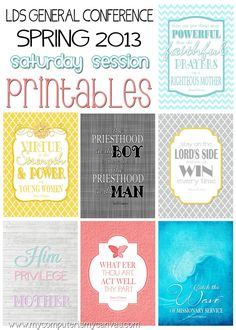 LDS General Conference Quote Printables - April 2013 Saturday Session