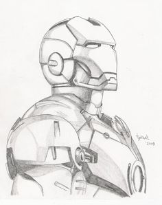 Iron Man sketch by TyndallsQuest. on - Iron Man sketch by TyndallsQuest. Pencil Art Drawings, Art Drawings Sketches, Disney Drawings, Cartoon Drawings, Cool Drawings, Disney Character Drawings, Cartoon Faces, Cartoon Characters, Iron Man Drawing