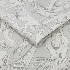 Need some nursery inspo? 🤔 Your little ones will go WILD for our Superfresco Easy Jungle Grey Wallpaper! It'll make the perfect backdrop for your jungle-style nurseries 🌿 - #iwwroom #interiordesigntips #interiordesignlife #interiordesignuk #interiordesigncontemporary #junglevibes #jungledecor #junglenursery #junglehouse #jungledesign #tropicalhouse #tropicalhome #tropicaldecor #nurseryinspo #kidsroominspo Grey Wallpaper, How To Hang Wallpaper, Animal Wallpaper, Colorful Wallpaper, Jungle Animals, Traditional Wallpaper, Zebras, Kids House, Pattern Paper