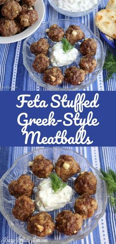These Feta Stuffed Greek Style Meatballs are perfect for your next get together with friends and family. They are an easy make-ahead recipe that can be served hot or room temperature.