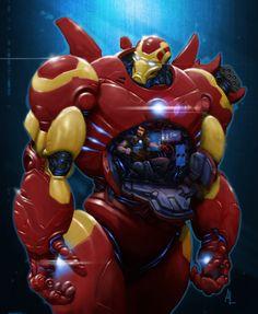Iron Man: Hulkbuster Suit by Alex Lopez, via Behance Marvel Comics, Marvel E Dc, Marvel Comic Universe, Marvel Heroes, Anime Comics, Marvel Avengers, Marvel Comic Character, Comic Book Characters, Marvel Characters