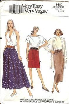 UNCUT Vintage Very Easy Very Vogue Pattern 9882  by AllThingsVogue