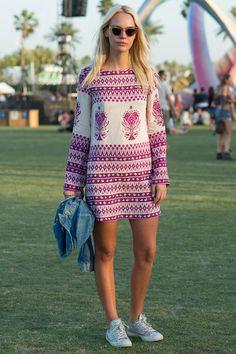 Já falamos que adoramos a combinação de vestido com #Converse? #Coachella2015