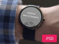 ANDROID WEAR TEMPLATE PSD BY JUAN CARLOS FERRARIS - Download all for free - Getfreeresources.com