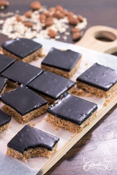 Здравословно No-Bake Chocolate фъстъчено масло Овесени Барове-1