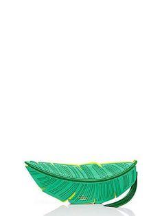 flights of fancy banana leaf clutch - Kate Spade New York