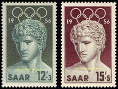 EBS-Germany-1956-Saar-Saarland-Olympic-Games-Melbourne-Michel-371-372-MNH