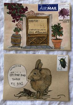 How to use mail-art templates — Naomi Loves Envelope Art, Envelope Design, Pen Pal Letters, Letter Art, Mail Art Envelopes, Paper Art, Paper Crafts, Decorated Envelopes, Postcard Art